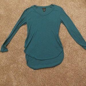 Long sleeve teal shirt